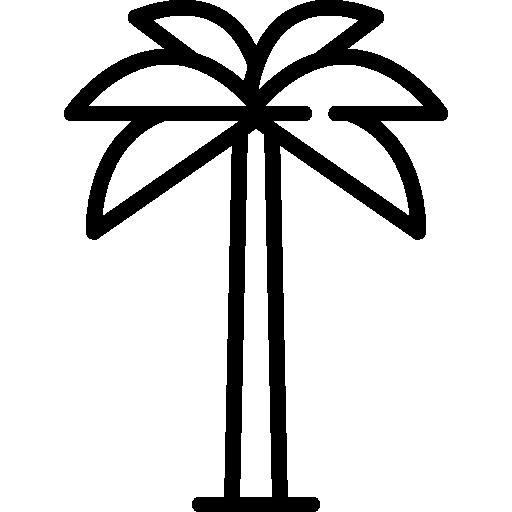 ícone de árvore com tronco alto